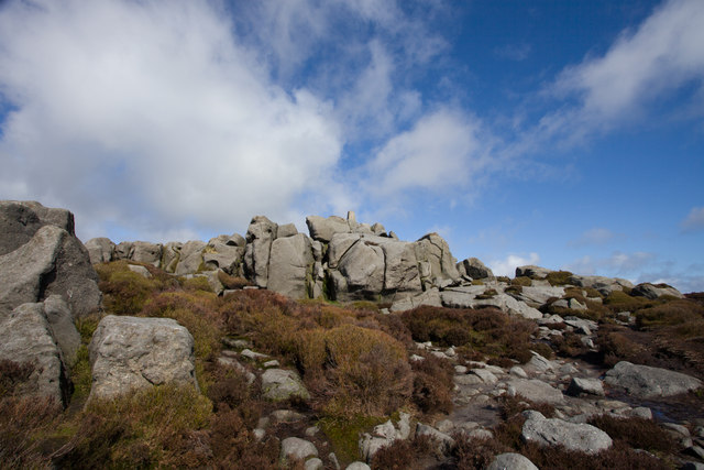 The summit and trig point of Simon's Seat