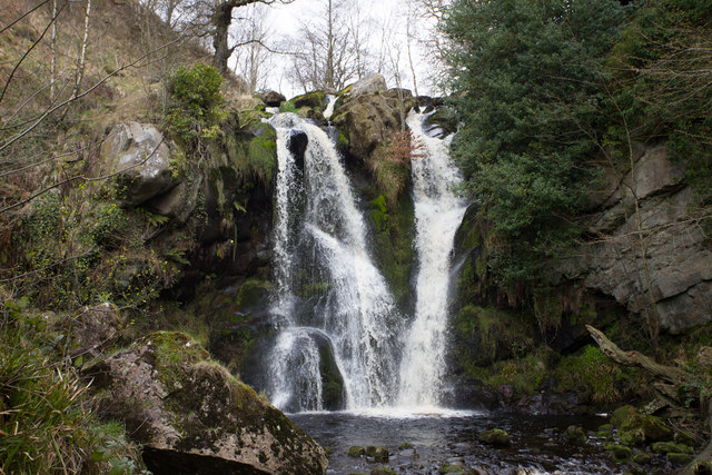 The lower waterfall in the Valley of Desolation
