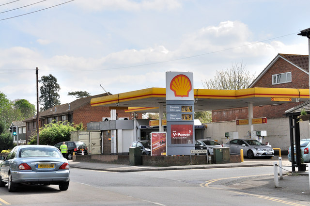Shell garage corner of station road brian chadwick geograph britain and ireland - Find nearest shell garage ...