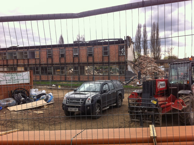 Balne Lane Public Library being demolished