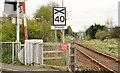 D0605 : Level crossing warning sign, Cullybackey by Albert Bridge