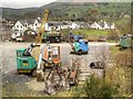 NY3224 : Vintage Cranes, Threlkeld Quarry and Mining Museum by David Dixon