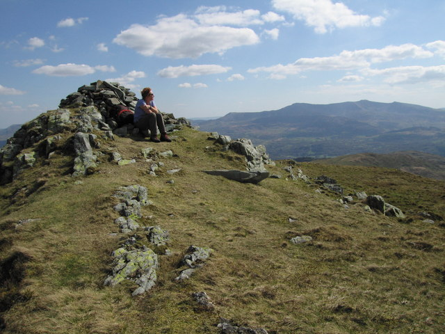 On the top of Y Garn