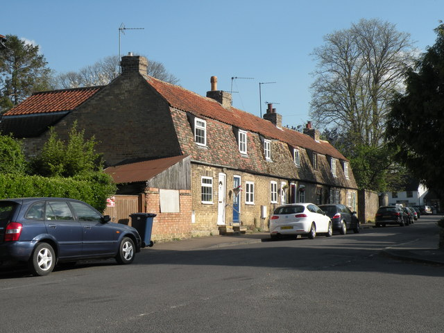 A row of old cottages in Apthorpe Street