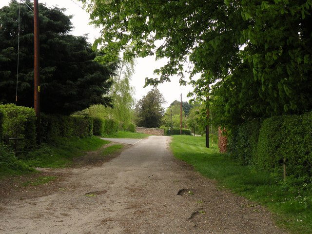 The approach road to Ashdon church