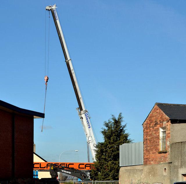 Fuel tank delivery, Strandtown, Belfast - April 2014(2)