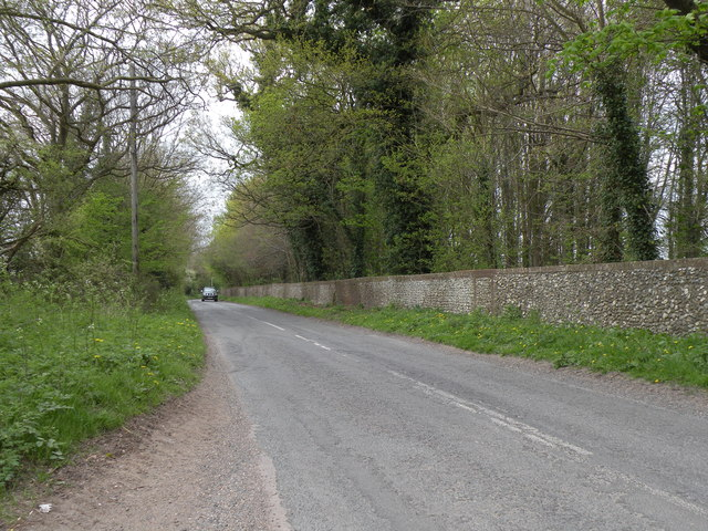 The road to West Wratting from the A1307