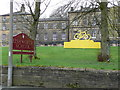 SE0318 : Yellow bicycle at Rishworth School by Humphrey Bolton
