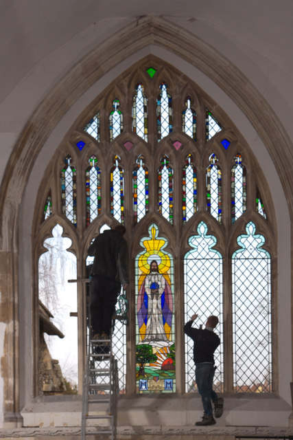Window repairs, St Mary's Rickinghall Inferior
