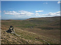 NY5405 : Cairn, Whatshaw Pike above Crookdale : Week 16