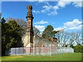 NS5263 : Rosshall Gardens: the old boiler house by Lairich Rig