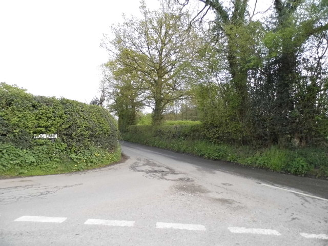 Hog Lane at the junction of Johns Lane