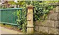 J3973 : Old boundary post, King's Road, Belfast - April 2014(1) by Albert Bridge