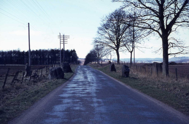 Stone Circle with a road running through the middle