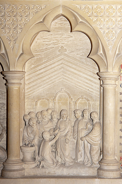 The reredos, St Mary's Church, Brome