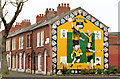 J3473 : Hurling mural, Belfast by Albert Bridge