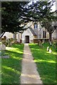 SP4711 : Path to St Bartholomew's Church by Steve Daniels