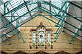 SJ8595 : Victoria Baths Males 1st Class Pool (Roof and Stained Glass Window) by David Dixon