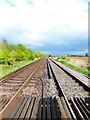 SU9804 : Looking east along railway from footpath by Shazz