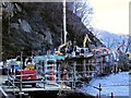 NN3213 : Pulpit Rock Improvement Works, Loch Lomond Shore by David Dixon
