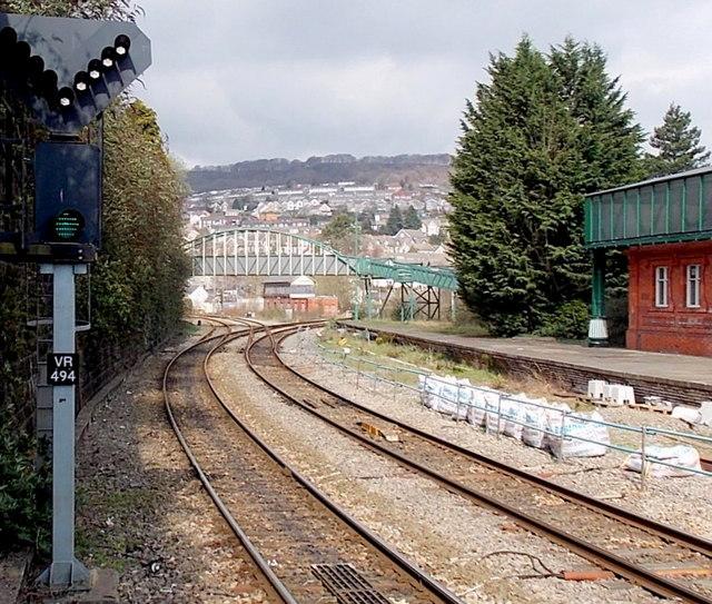 In Abercynon Rhondda Cynon Taf: Points Set For Abercynon North Of... © Jaggery :: Geograph