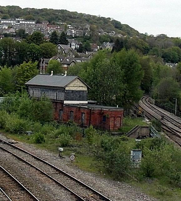 In Abercynon Rhondda Cynon Taf: Disused Pontypridd Junction Signalbox © Jaggery