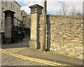 ST5972 : Gate piers and wall, Pump Lane by Derek Harper