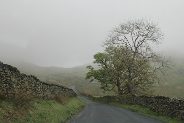 Looking up Kirkstone Pass to the Struggle