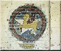 TM3185 : RAF Bungay (USAAF Station 125) - Aero Club mural (9) by Evelyn Simak
