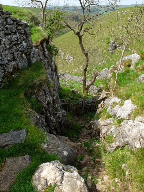 The view down Conistone Dib