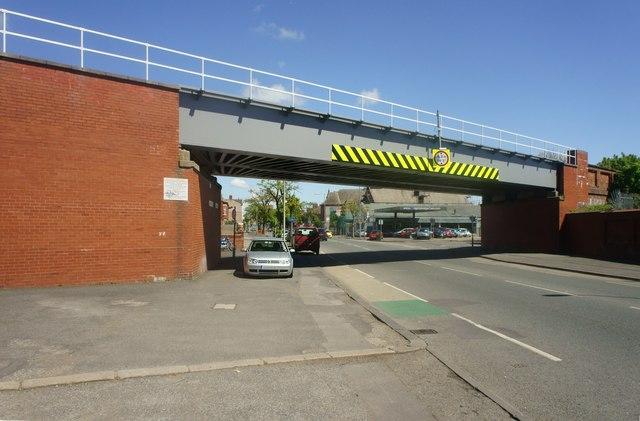 Rail bridge over the A5087
