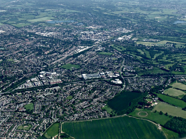 Maidenhead from the air