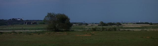 Panorama across Minsmere to Southwold