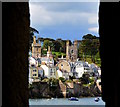 SX1251 : View from Polruan Castle to Fowey, Cornwall by Edmund Shaw