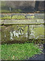 SP1489 : OS benchmark - Castle Bromwich, church of St Mary & St Margaret by Richard Law