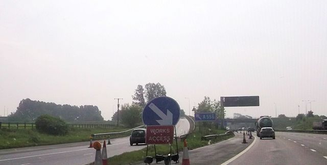 M6 southbound at junction 19