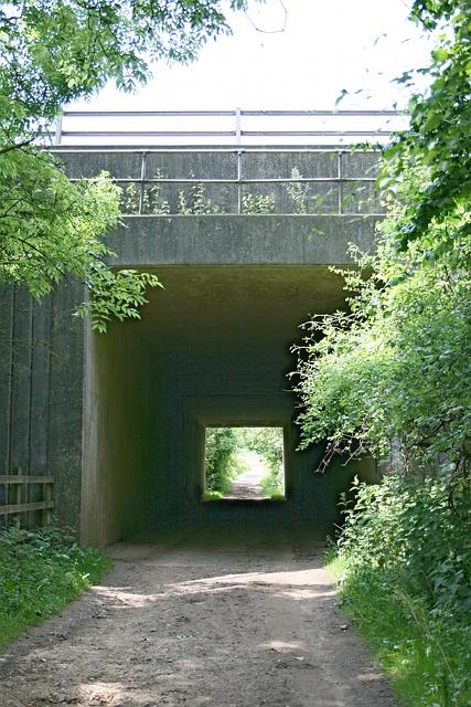 Bridleway tunnel under M25