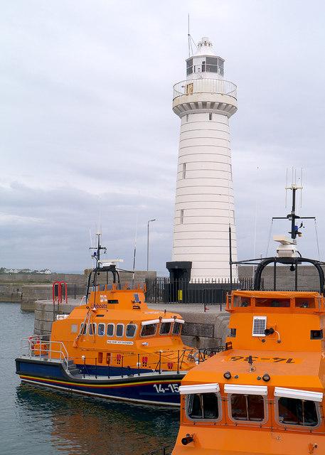 Two lifeboats at Donaghadee