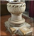 """SP8812 : Buckland - All Saints - Norman """"Aylesbury"""" font (1) by Rob Farrow"""