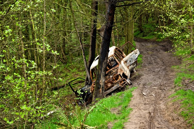 Burnt Out Vehicle, Lackenby Bank