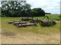 TL4687 : Gang rolls at Boon's Farm near Manea by Richard Humphrey