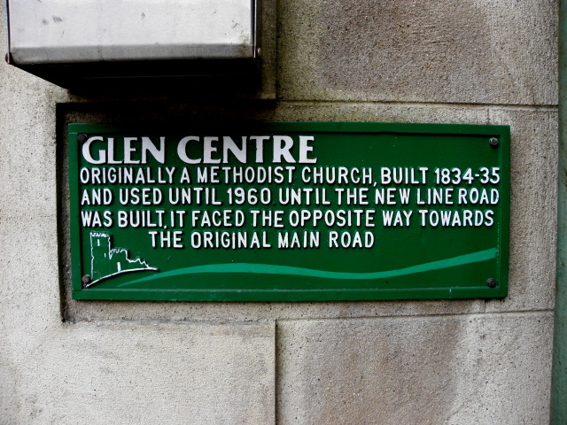 Glen Centre plaque, Manorhamilton