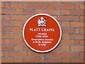 Photo of Platt Chapel red plaque