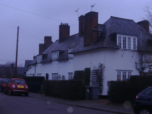 Cottages on Shorts Croft, Roe Green Village