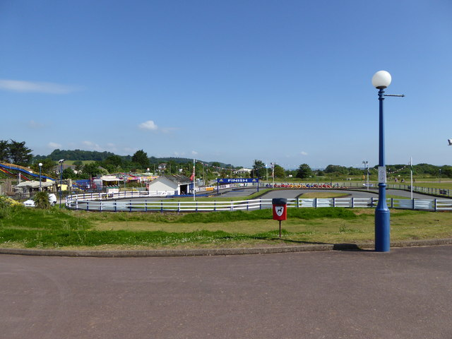 Kart track at Dawlish Warren