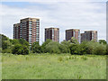 SK2003 : Tower blocks at Tamworth by Alan Murray-Rust