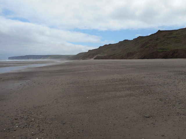 Coastal erosion at Reighton Sands