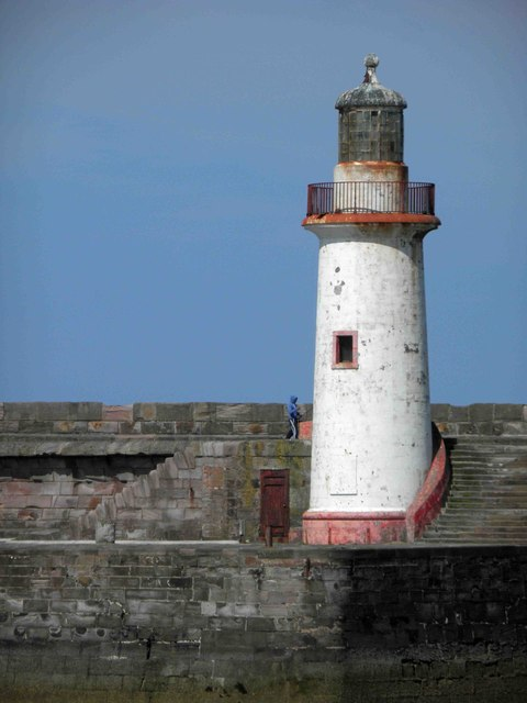 Whitehaven West pier lighthouse