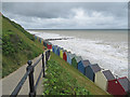 TG3136 : High tide at Mundesley by Pauline E