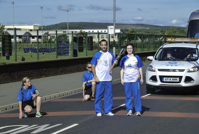 Queen's Baton Relay in Stranraer